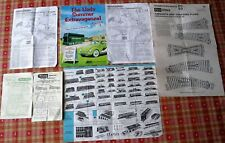 Assorted Hornby, Triang, Lledo, Peco & Playcraft Brochures and instructions