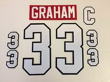 Chicago Blackhawks Jersey Lettering Kit Any Name/Number