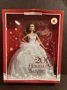 2013 Holiday Barbie Kmart exclusive with Auburn Hair  25th Anniversary NRFB NIB