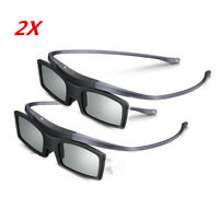 Lot of 2 4K HD UHD SUHD 3D Active TV Glasses SSG-5100GB SSG-5150GB For TV
