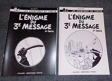 INTEGRALE TINTIN L'ENIGME DU 3EME MESSAGE LES 2 TOMES PORT OFFERT