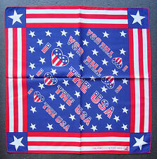 United States I Love USA BANDANNA Stars & Stripes Handkerchief Neck Head Scarf