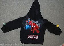 """Size 3/4 Marvel """"Spiderman"""" Black Hooded Sweatshirt"""
