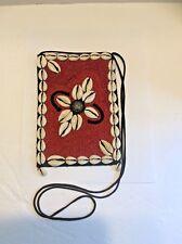 Vintage Handmade Beaded Shells Purse Crossover Shoulder Handbag