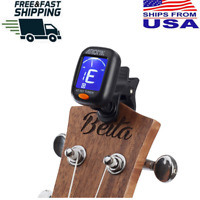 Digital Chromatic LCD ClipOn Electric Tuner For Bass Guitar Ukulele Violin Cello