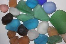 (8 lbs), TUMBLED SEA GLASS, SEA GLASS, LARGE SEA GLASS, MIXED COLORS,SEA GLASS,