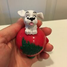 "101 Dalmatians Puppy Christmas Ornament Top 3.5"" McDonald's Action Figure Toy"
