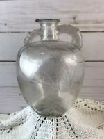 QUART SIZE WHITE HOUSE VINEGAR CLEAR GLASS APPLE BOTTLE/JUG WITH HANDLE & SPOUT