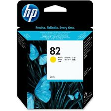 82 HP Yellow CH568A Genuine Original Ink Cartridge 2016