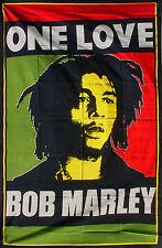 BOB MARLEY ONE LOVE RED RAGGAE ART SOFA SINGLE BED THROW DECOR BEDDING COVER DUB