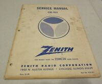 Zenith Television TV Service Manual CM-105 25MC30 Chassis 923-301 1964 Book RARE