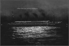 Photo: GRAND View: Titanic Night Photo At Cherbourg, April 10, 1912