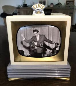 Vintage 1998 Vandor Elvis Presley TV Cookie Jar Television Original