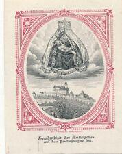 Nr 30556 2 antike Andachtsbilder Pöstlingberg + Lourdes  6  x 8 + 6 x 12  cm