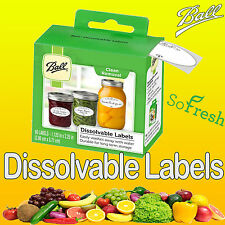 60 x Ball Mason Dissolvable Labels Suit All Types Of Canning Preserving Jars