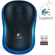 Logitech NEW M185 BLUE Wireless Optical Mouse Compact for PC Laptop MAC Linux