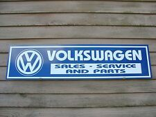 EARLY STYLE VOLKSWAGEN CLASSIC AUTO 1X4 METAL DEALER/SERVICE SIGN/GARAGE ART