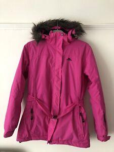 Tresspass Avalon Ladies Lined Ski Jacket Hooded Coat Size Large