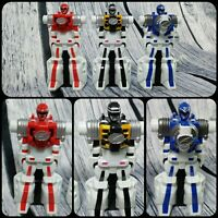 LOT Of 3 2006 Bandai Power Rangers Operation Overdrive Red Blue Black Rangers