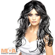 Gothic Bride Wig Ladies Fancy Dress Halloween Witch Adults Costume Accessory New