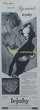 PUBLICITE LEJABY SOUTIEN GORGE PIGEONNANT SIGNE BLONDE DE 1959 FRENCH AD PIN UP