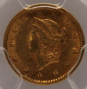 1852 $1.00 Gold Indian Head PCGS AU 58 (CAC Approved)