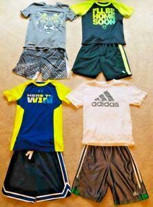 Boys Adidas & Under Armour Size 7 Athletic Shirts Shorts Clothing Lot **NICE**