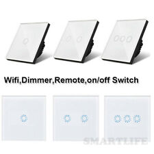 Smart 1/2/3 Gang Glass Touch LED Light Switch Wifi,Remote,Dimmer ON/OFF Switch