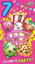 SHOPKINS 7 ans Today / 7th Carte D'anniversaire Pour Filles Enfants
