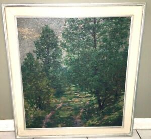 Carl Wuermer Important Chicago Impressionist Pointalist Painting Landscape 1920s