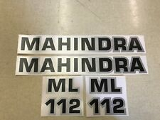 Mahindra ML 112 loader decals