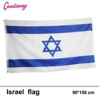 Israeli National Flag David Star Jewish Banner X Israel Country Magen 3 5 Ft New