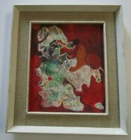 K.W LEE PAINTING ABSTRACT EXPRESSIONISM KOREAN RARE MID CENTURY MODERN VINTAGE