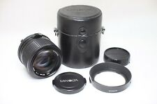 Excellent Minolta MD Rokkor 85mm F/2 MF Lens W/ Case and Hood Made In Japan