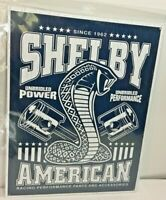 """Shelby Cobra American Racing Performance Tin Sign 12.5"""" x 16"""" Made in the USA"""