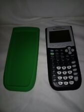 TEXAS INSTRUMENTS TI-84 PLUS GRAPHING CALCULATOR WITH GREEN SILICONE COVER