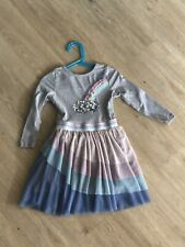 New Monsoon 3-4 Years Girls Rainbow Dress Sequins Worn Once Sparkly