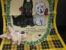 Scottie Scotty Westie Dog magnets planter towel artwork cloth Lot of 3