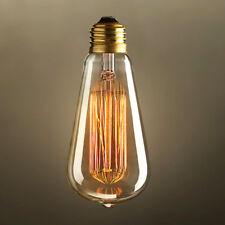 E27 40W 220V Retro Edison Incandescent Light Bulb Amber Color Brass Finish ST64