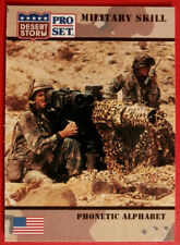 DESERT STORM - Card #171 - Military Skill: PHONETIC ALPHABET - Pro-Set 1991