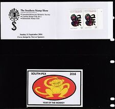 Australia 2016 SOUTH-PEX Year of the Monkey RHS Unofficial Booklet - UB14-16b