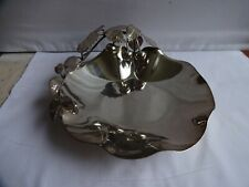 More details for vintage walker & hall silver plated fruit bowl with cherries & leaves dia. 22 cm
