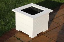 47cm quadrato Fioriere made in Decking perfetto fiore trogolo vaso bianco