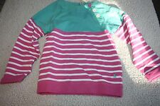 NWT LITTLE JOULES RIXIE CANDYSTRIPE BEACH 3/4SLEEVE PINK/MINT SWEATSHIRT  128 8