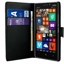 Black Wallet Flip Leather Case Cover For Nokia Lumia 1020 & Free Screen Guard
