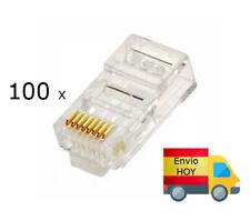 LOTE DE 100 TERMINALES CONECTORES DE RED Ethernet RJ45 ENVIAMOS HOY