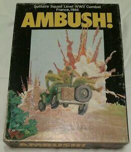 Victory Games Avalon Hill Ambush! 1983 Punched