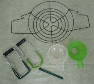 Canning Supplies Jar Lifters Funnels Magnet Canner Rack Set
