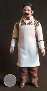 1:12 Mini Doll Black Male Shopkeeper Store Bartender Saloon Western 0524 Cindy's