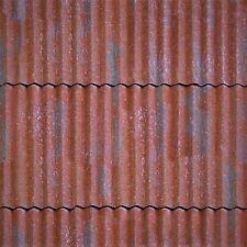 ! 4 SHEETS MATT VINYL WATERPROOF SELFADHESIVE iron 1/24 scale corrugated roof T9